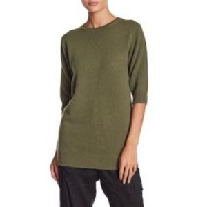 Vince Elbow Sleeve 100% Cashmere Tunic